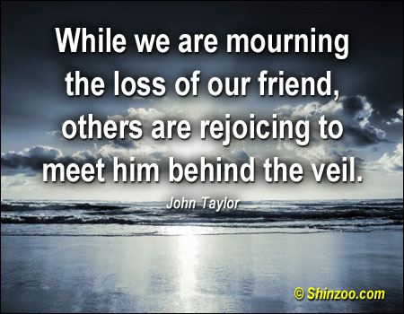 christian quotes and sayings when a family member dies