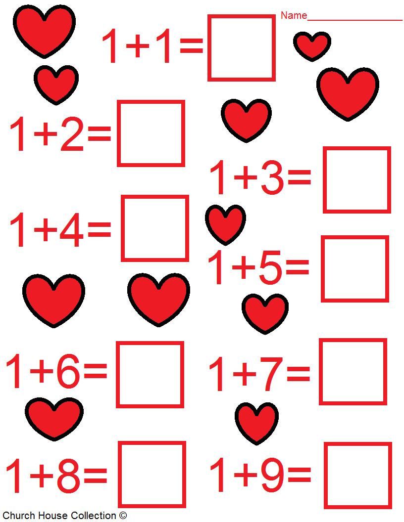 Kindergarten Valentine Math Worksheets – Free Math Worksheets Kindergarten