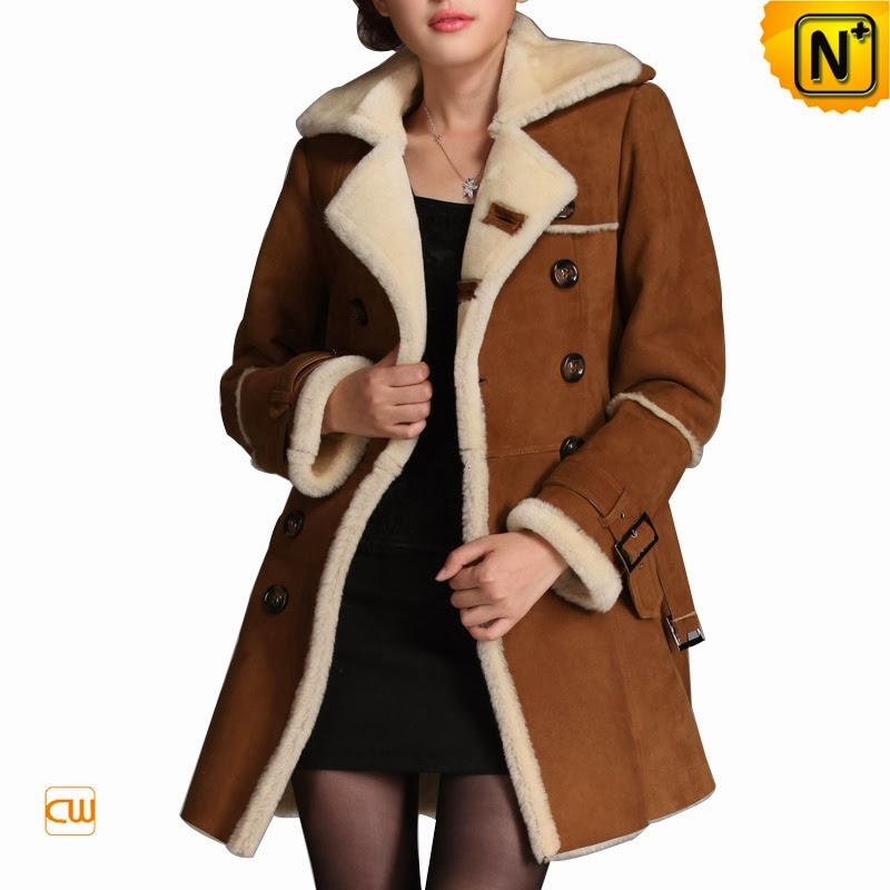 women shearling coat
