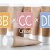 Perbedaan BB cream, CC cream dan DD cream