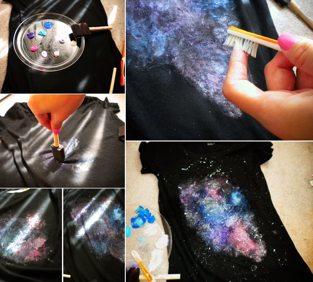 Diy Fashion Painted Galaxy T Shirt Diy Craft Projects