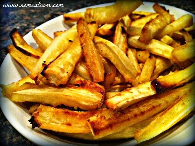 Honey Ginger Parsnip Fries