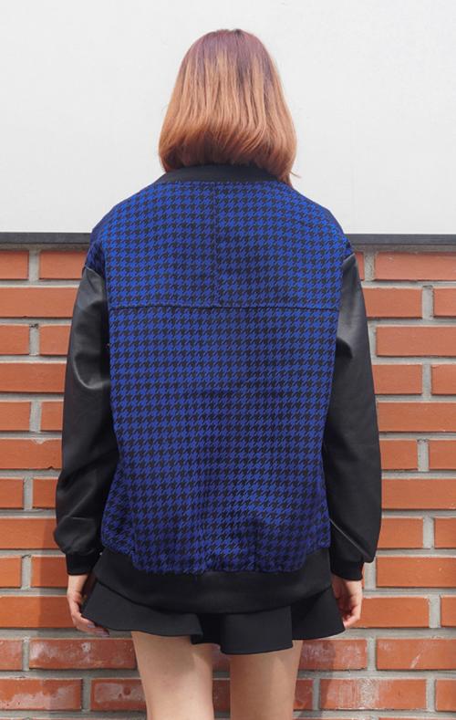 Houndstooth Varsity Jacket