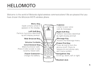 Motorola W375 wireless phone User guide