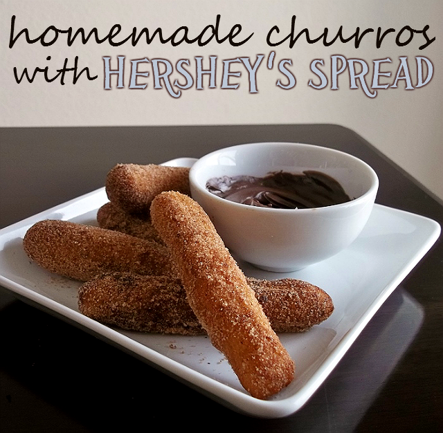 Homemade Churros with Hershey's Spreads #ad