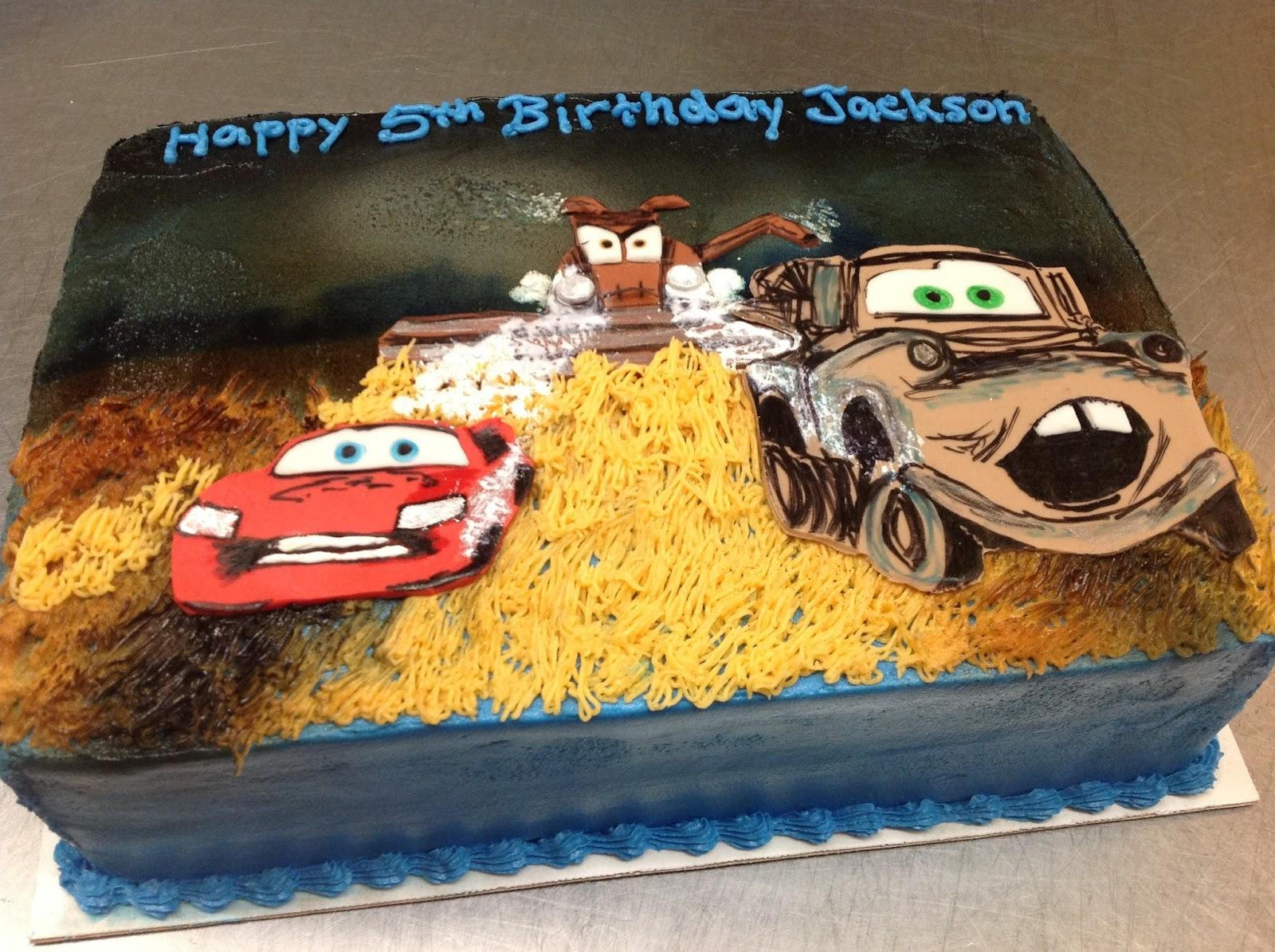 Plumeria Cake Studio Pixar Cars Cake Mater Lightning McQueen Frank