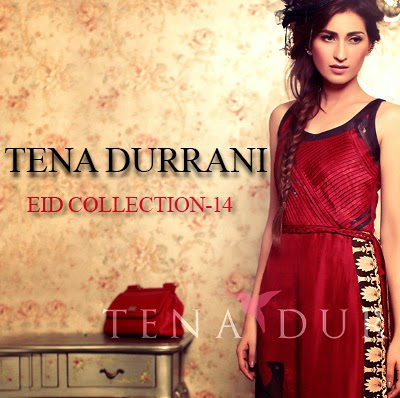 Tena Durrani Eid Collection 2014- Embroidered and Designer Dresses