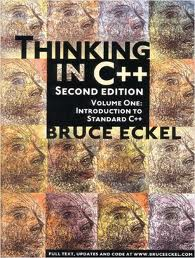 THINKING IN  C++  volume one by bruce eckel  , THINKING IN  C++  volume one