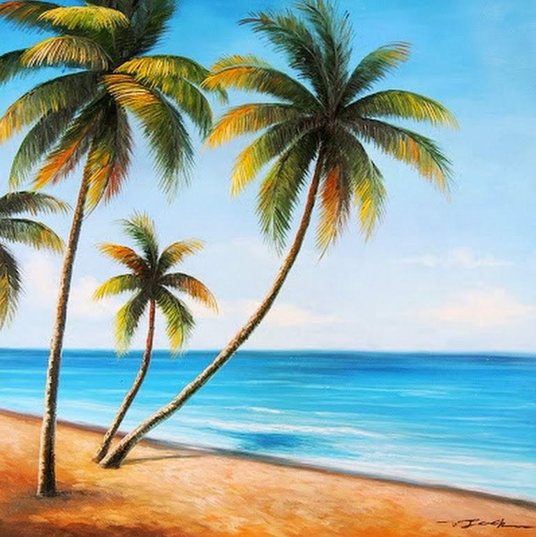 Pintura moderna y fotograf a art stica paisajes con - Cuadros hechos con piedras de playa ...