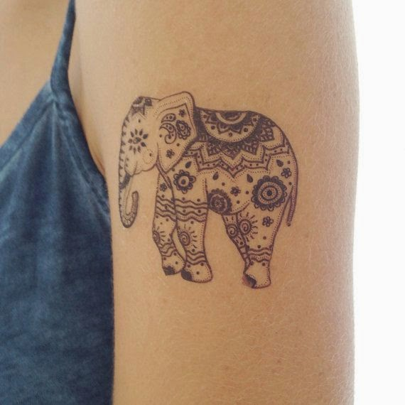 ♥ ♫ ♥ Cute Elephant Tattoo  On Sleeve ♥ ♫ ♥