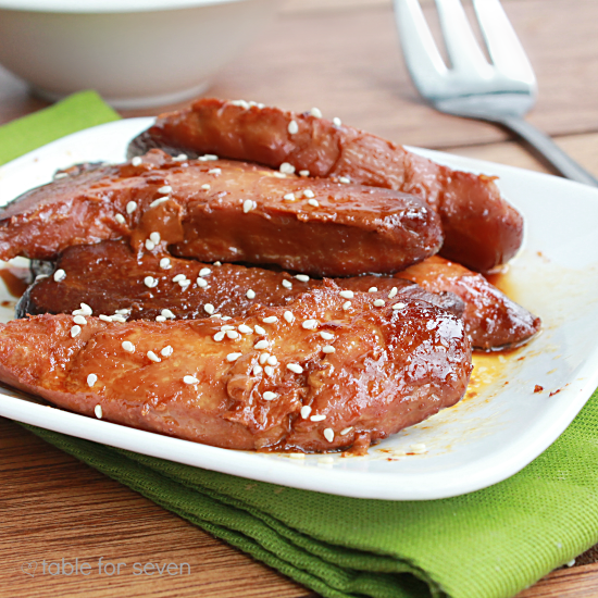Crock Pot Honey Glazed Chicken by Table For Seven