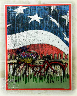 Our Daily Bread designs Bicycle Old Flag Background Designer Dawn Lusk