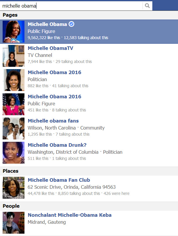 Michelle Obama search