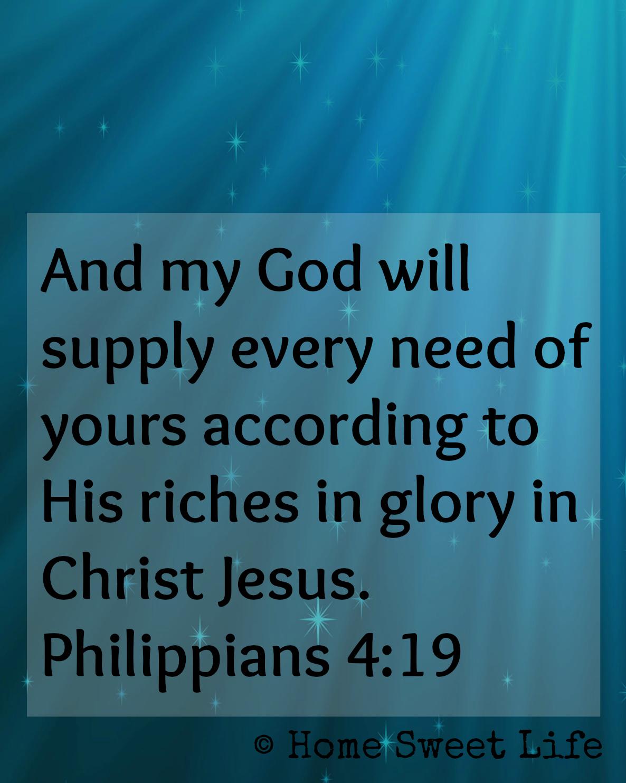 Philippians 4:19 graphic