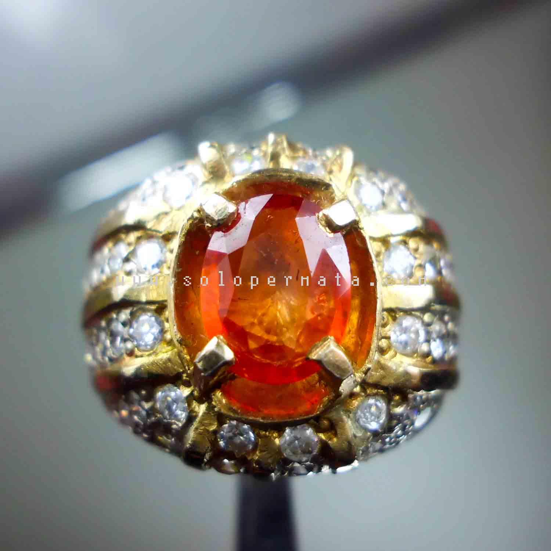 Batu Permata Orange Sapphire