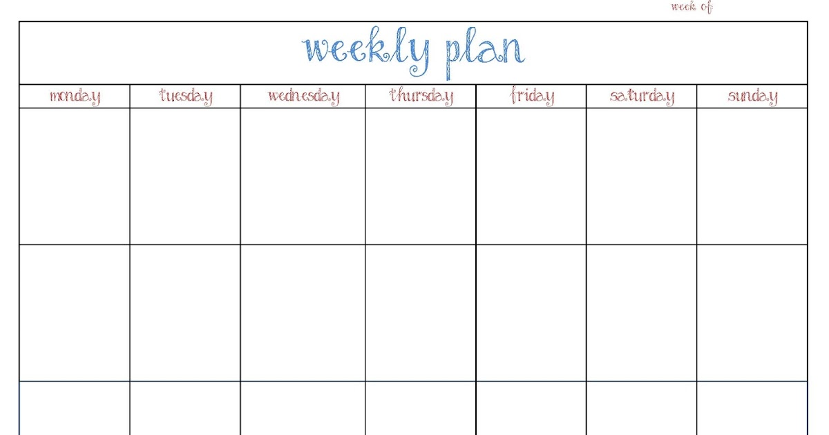 The cluttered house weekly planner printable for Home plan weekly
