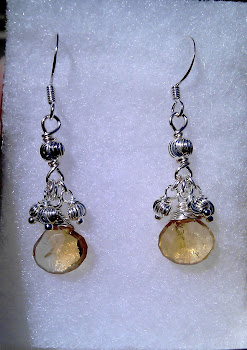 Citrine with sterling silver