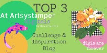 I am winner top 3 Artsy Stamper