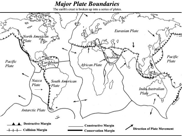 vudeevudee u0026 39 s geography blog  plate boundaries