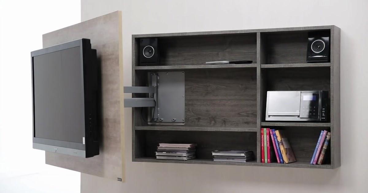 Dise o de muebles para tv giratorio de melamina web del - Web de muebles ...