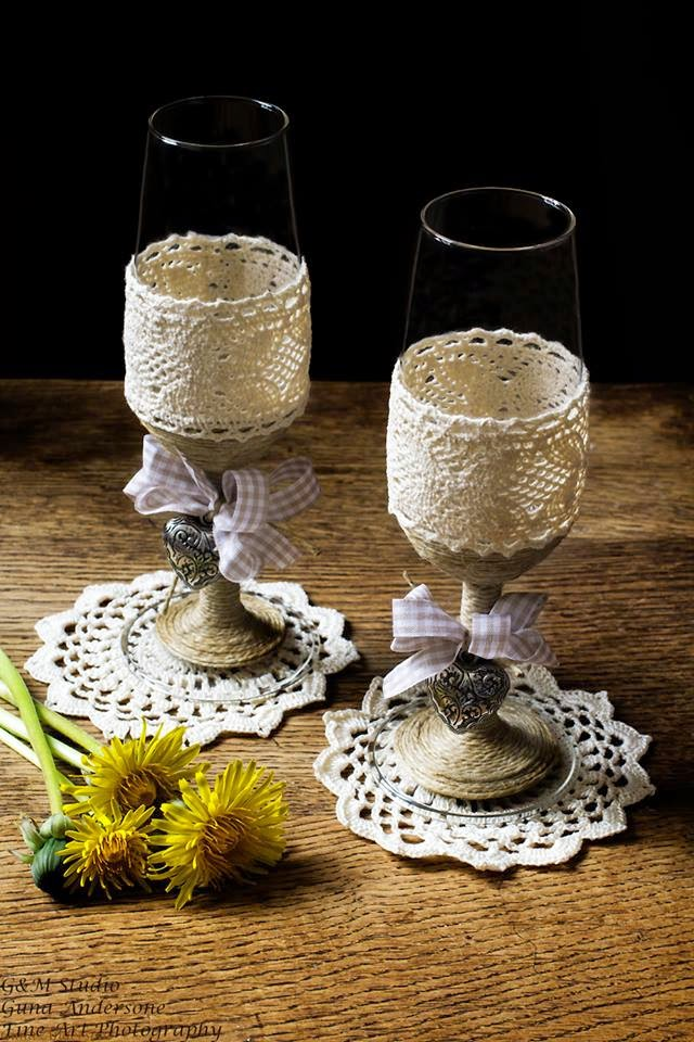 gunadesign guna andersone Countryside wedding champagne flutes