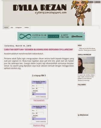Segmen bloglist Ardilla Noorezan
