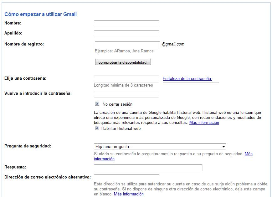 Gmail nueva cuenta