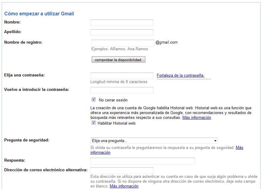 Gmail nueva cuenta