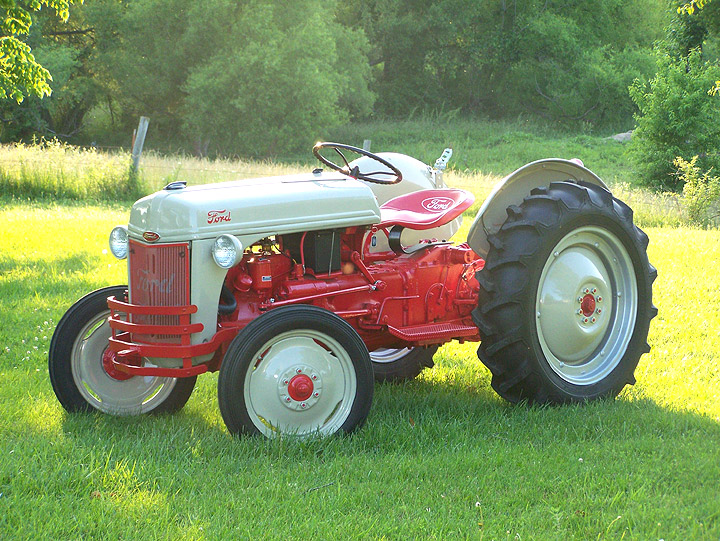 Old Ford Farm Tractors : The small hold will not go down without a fight bit