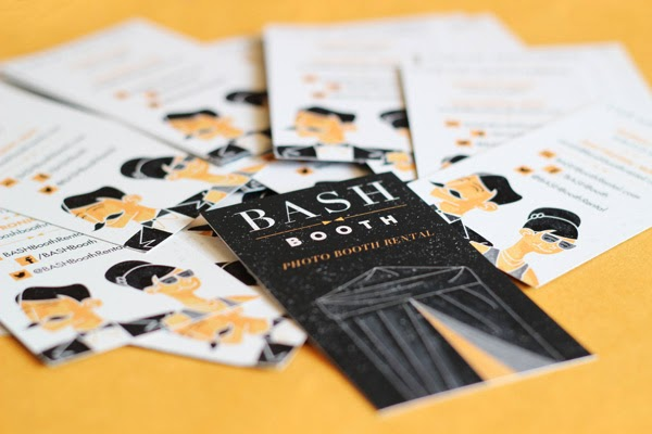 GotPrint Bash Booth black and white business cards