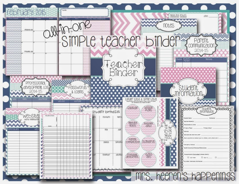 http://www.teacherspayteachers.com/Product/All-in-One-Simple-Style-Teacher-Binder-Pink-Navy-Teal-1247252