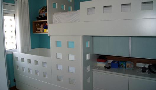 Criando Soluções Decoração para quarto infantil ~ Quarto Planejado Infantil Com Beliche