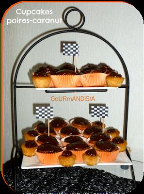Image de Cupcakes poires-caranut (pâte à tartiner aux carambars)