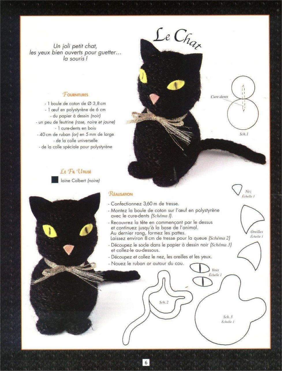 Gato em tricô