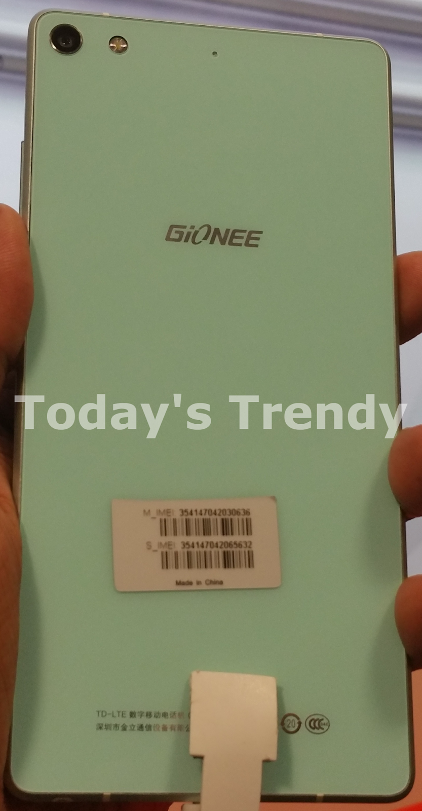 Gionee Elife S7 rear