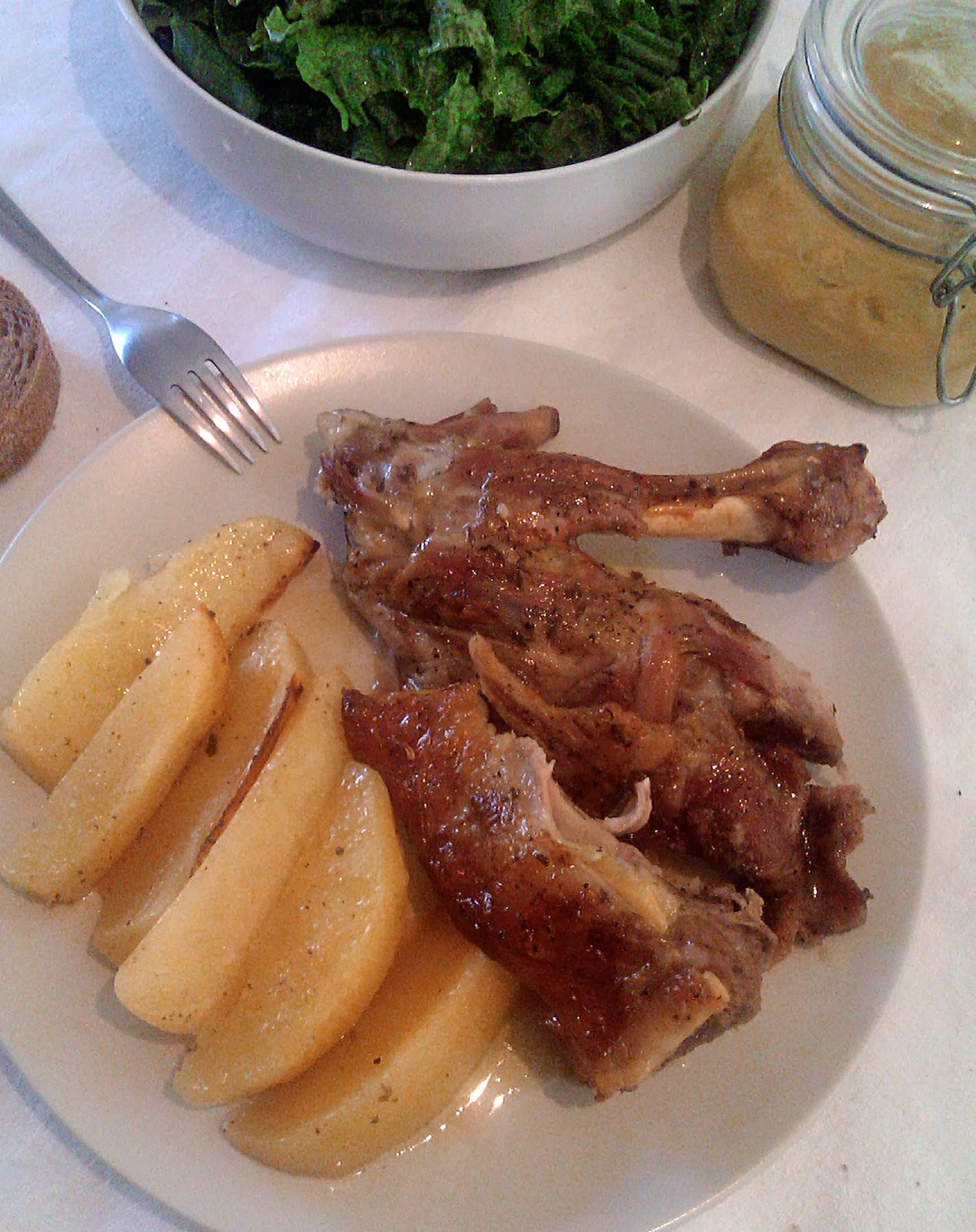 Greek goat with potatoes in the oven