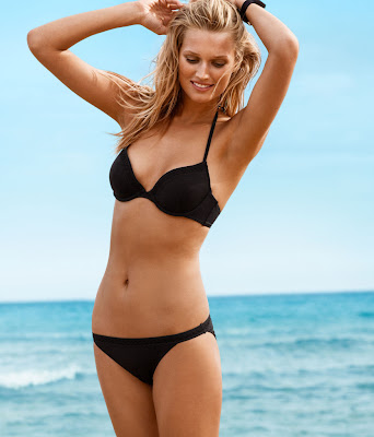 Toni Garrn hot pose for the brand spanking new H&M swimwear collection