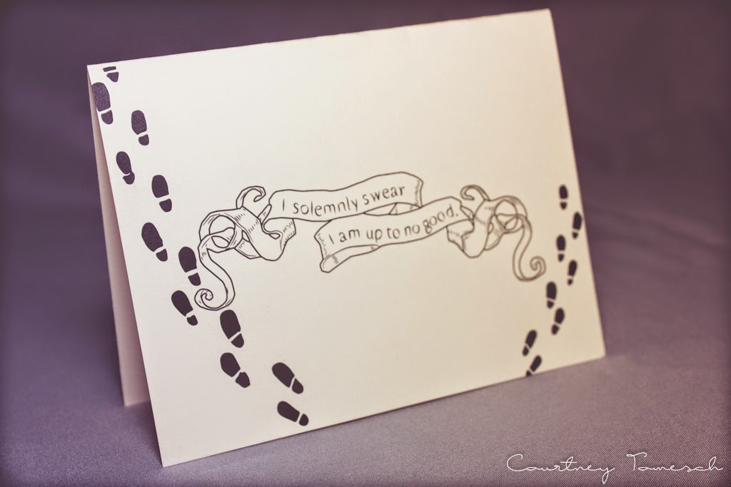 Harry Potter Screen print Card