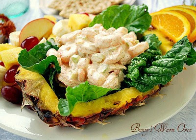 Bunny's Warm Oven: Shrimp Salad in a Fresh Pineapple with Fall Fruit