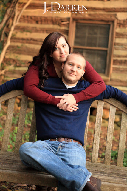 photo of unique engagement session fall reynolda gardens winston salem NC