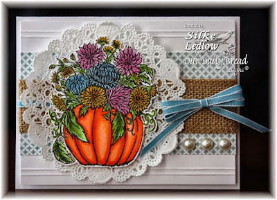 Stamps - Our Daily Bread Designs Fall Flower Pumpkin, ODBD Custom Pumpkin with Flowers Die