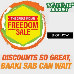 Amazon The Great Indian Freedom Sale 10 August - 12 August (Live)