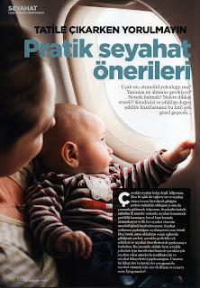 Bebeğimle Elele dergisinde Pratik Seyahat Önerileri yazısı