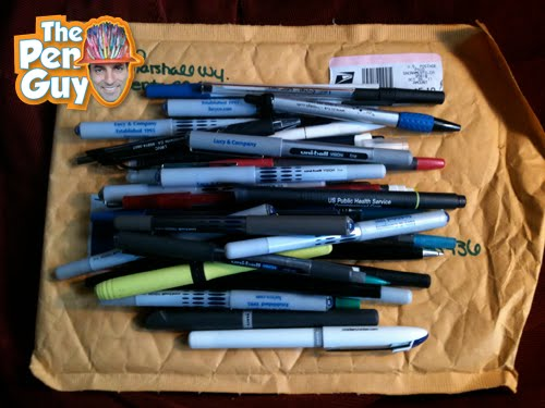 Pen donation from Sacramento California for the pen guy