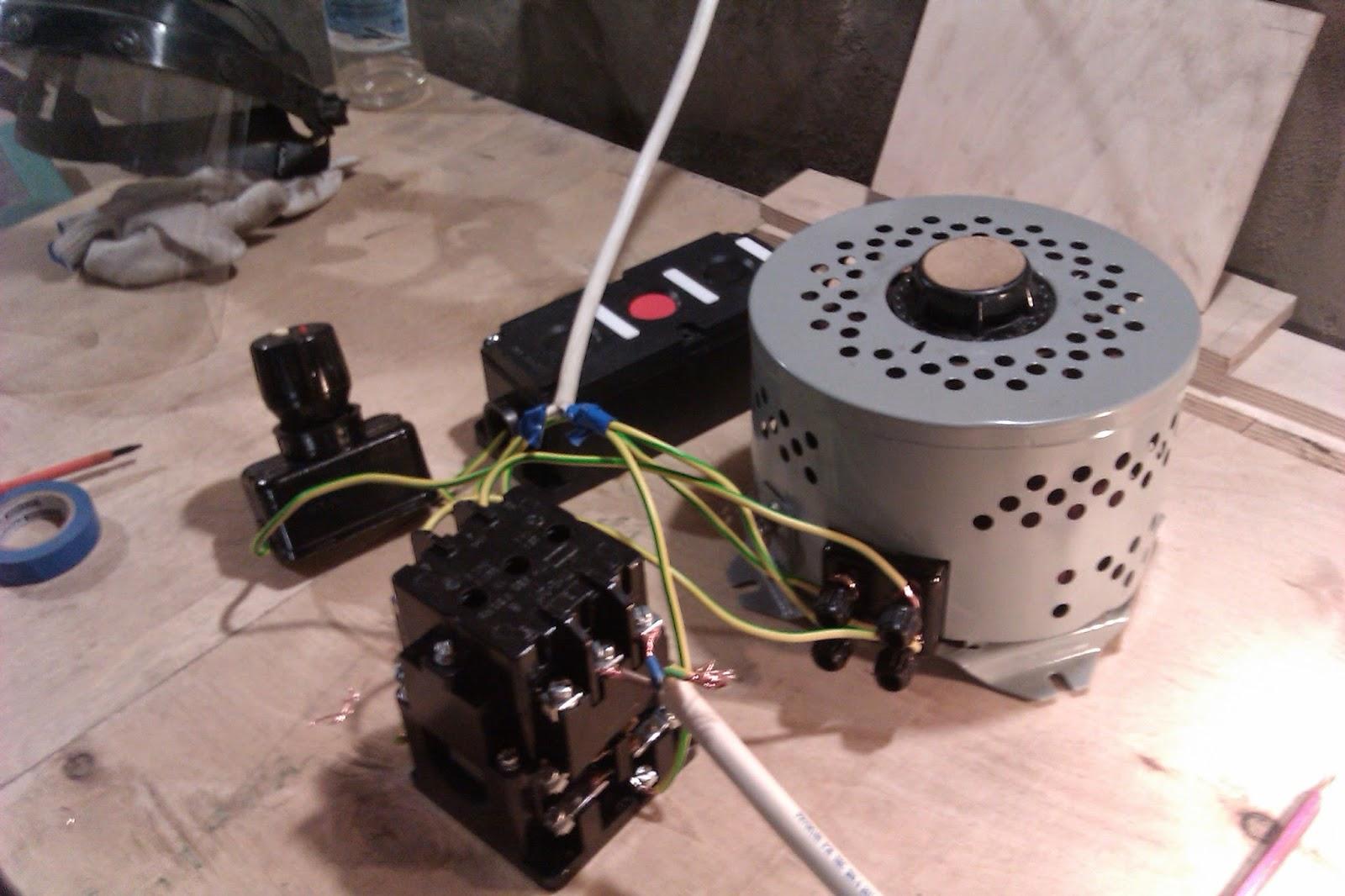 схема подключения электродвигателя на фото