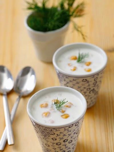 Nohutlu buğdaylı soğuk çorba