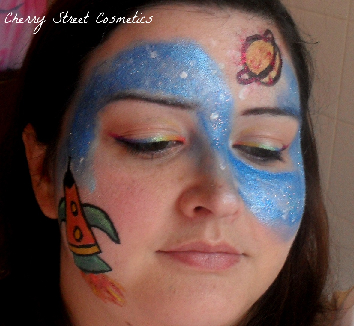 Carnival outer space on pinterest space cupcakes for Outer painting design