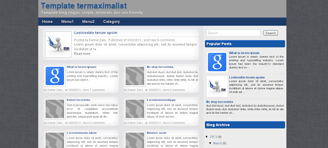 Termaximalist Responsive Blogger Template