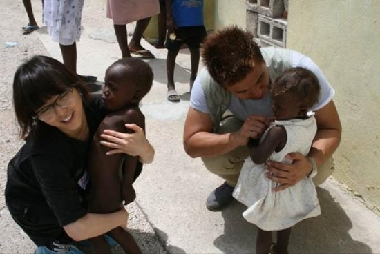 Sun Ye & Boyfriend in Haiti