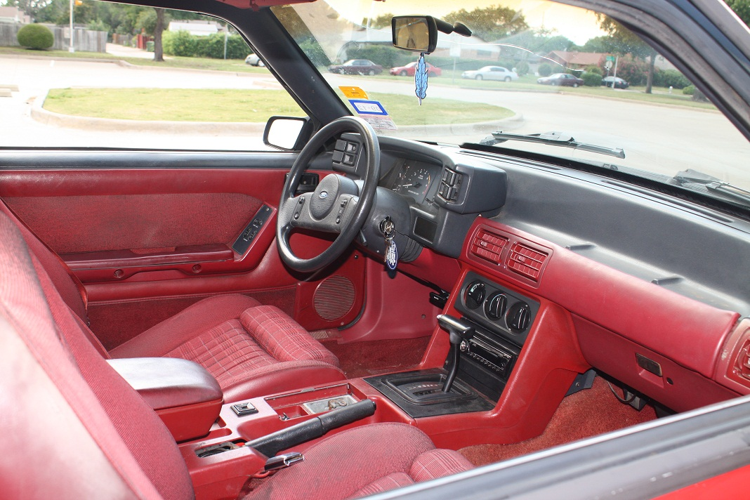 Whiteboy 39 S Mustangs 1989 Mustang Lx 5 0 5spd Red Red